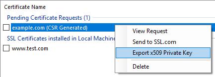 SSLM CSR Context Export