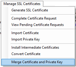 Merge Certificate and Private Key