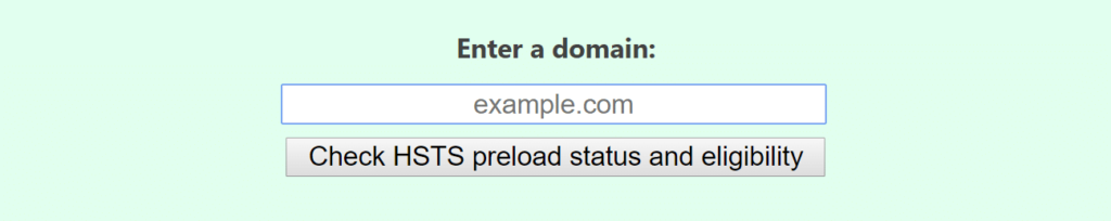 HSTS preload eligibility tool