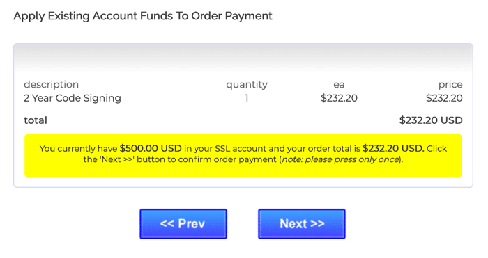 Apply existing funds