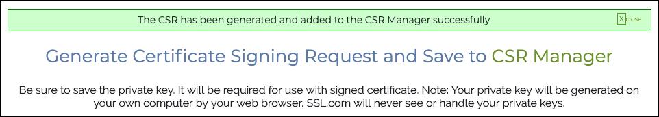 CSR Generated