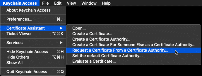 Request a Certificate From a Certificate Athority