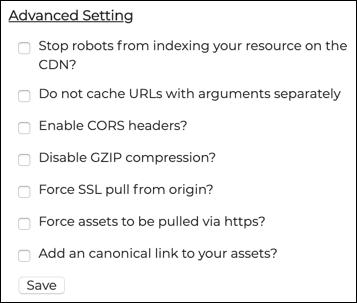 Advanced Setting