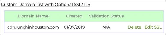 Custom Domain List