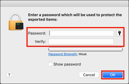 Create PFX password