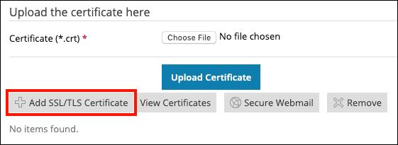 Add SSL/TLS Certificate