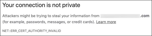 NET::ERR_CERT_AUTHORITY_INVALID