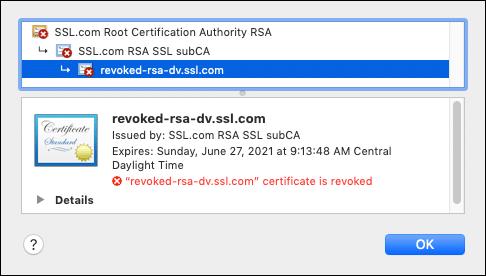 Certificate is revoked