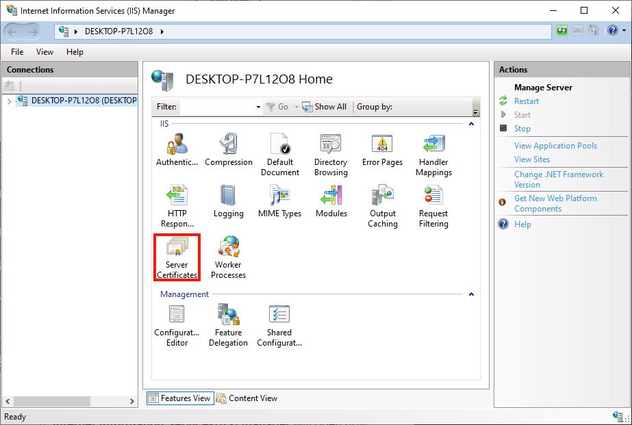 Server Certificates Icon