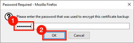 Enter password for PFX file