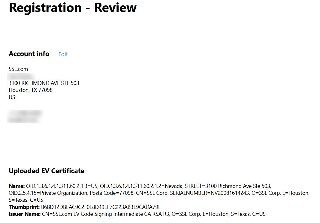 registration - review