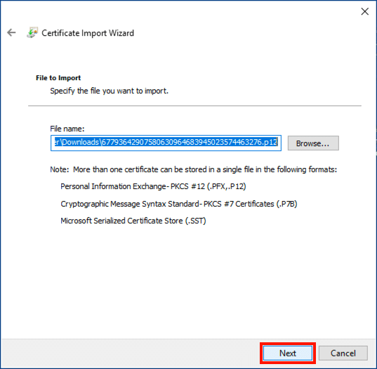 Specify file