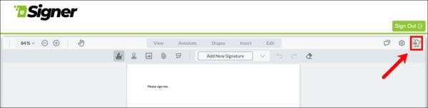 Add digital signature